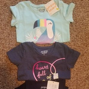 NWT Jumping Beans Tops Size 2T